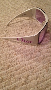Purple Dior tint sunglasses with white frame