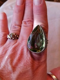 HUGH Green Amethyst 925 SS ring Slatington