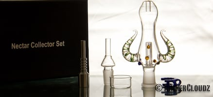 Clearance- nector collector kit- with glass and titanium nails