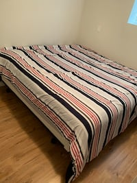 King size mattress, box spring and metal bed frame Surrey, V3Z 0M4