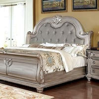 King Champagne Finish Bed Only