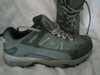 WORX Mens steel toe black and gray shoes sz 10W2 Chandler, 85224