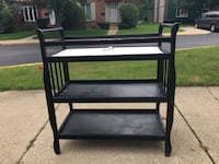 black wooden 3-layer changing table Rosemont, 60018