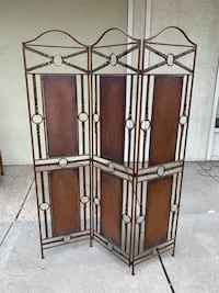 Great Looking Metal Room Divider/Screen - REDUCED