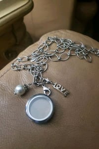 Silver plated neaclece with locket  Oakville, L6H 2K3