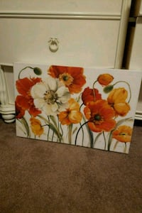 yellow and red flower painting Culloden, 25510