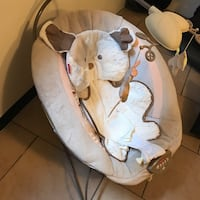 Baby's white and brown bouncer Bell, 90201