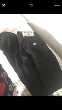 Black and red stitching true religion jeans for men Providence, 02907
