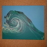 Mermaid painting original Virginia Beach, 23455