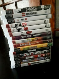 assorted Sony PS3 game