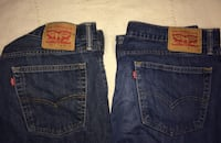 Blue levi's denim bottoms