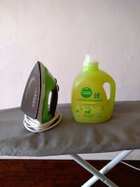 Steam iron/ ironing board / laundry detergent