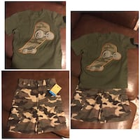 New With Tags Boys Kid Size 4 Camo Cargo Short Outfit Houston, 77066