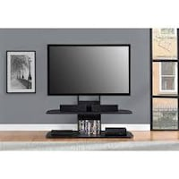 Ameriwood Home Galaxy TV Stand with Mount for TVs up to 65 Wide, Black(NEW IN BOX) 46825