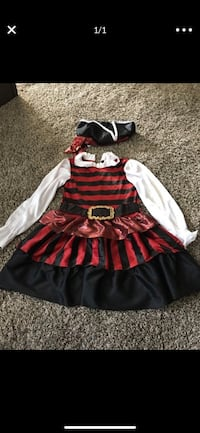 Pirate costume girls size medium Bakersfield