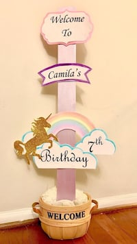 Unicorn birthday/baby shower sign  Springfield, 22152