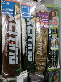 four assorted-color hair extension packs Schenectady County, 12309
