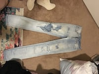 white and blue denim jeans Red Deer, T4R 3N1