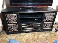 Beautiful Asian tv stand with liquor cabinet and mirror . Beautiful matching set New York, 11367