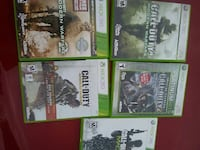 five Xbox 360 game case collection