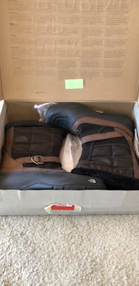 North face brown and black leather boots in box Rockville, 20852