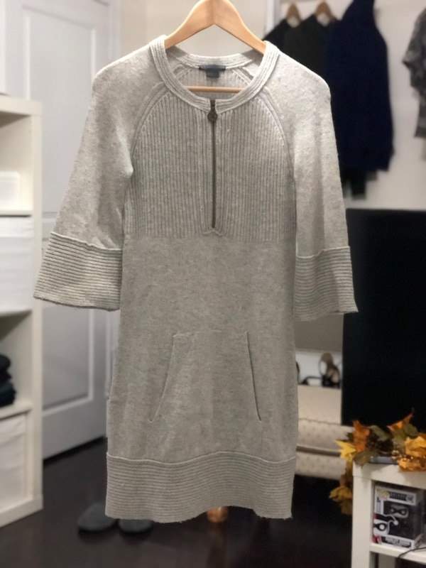 Armani Exchange wool and cashmere winter dress, grey