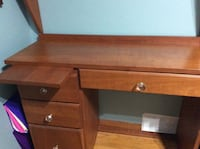 This Needs to be Sold Quickly! Solid Cherrywood Desk & Shelving Unit!