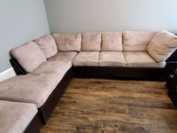 Beige Sectional with Ottoman Brampton, L7A 3G6