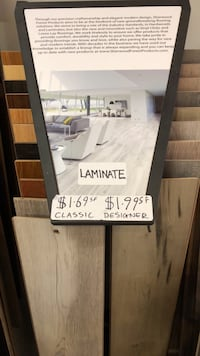 Laminate Floors starting at $1.69SF Burlington
