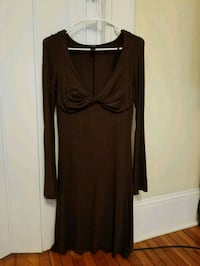 women's brown long sleeve dress Ridgewood, 07450