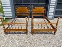2 Twin maple matching Bed Frames