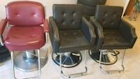 Two (NEW ...NOT USED)black leather salon chairs Suitland-Silver Hill, 20746
