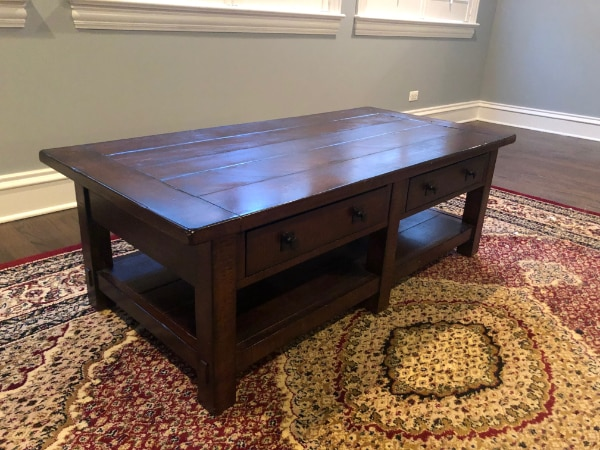 Pottery Barn Rustic Coffee Table.Pottery Barn Benchwright Rectangular Coffee Table In Rustic Mahogany