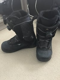 black snowboard boots size:7.5 London, N6K 5A2