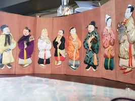 Oriental cloth picture board