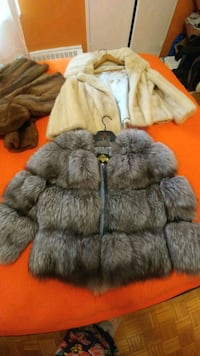 New. Real silver fox coat.