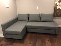 Gray fabric sectional sofa with throw pillows West Vancouver, V7V 4H9
