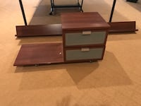 IKEA queen size bed frame and night stand Germantown, 20874