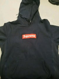 black and orange Supreme pullover hoodie North York, M2N