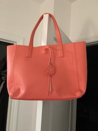Genuine leather tote bag (coral colour) Montréal, H4R 3L6