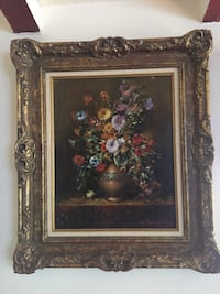 brown wooden framed painting of flowers Anaheim, 92801