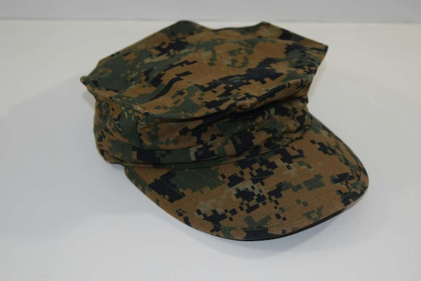 used usmc green woodland marpat garrison cover extra sm for sale in