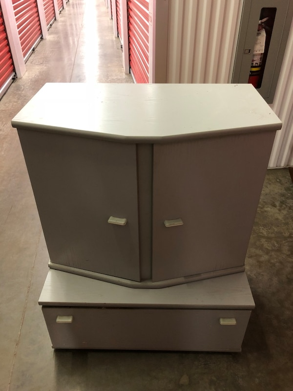 SOLID MATCHING CUPBOARD AND DRAWER
