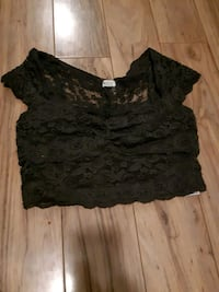 Lace fitted crop garage top 563 km