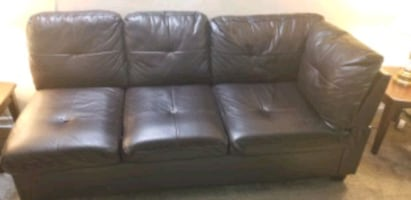 air leather sectional sofa with ottoman