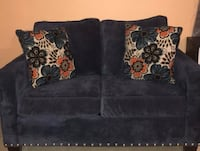 NAVY BLUE CLOTH LOVE SEAT Triangle, 22172