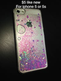 Glittered liquid case for iphone 5/5s Mississauga, L5W