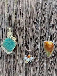Sterling silver and gemstone necklaces $75 each