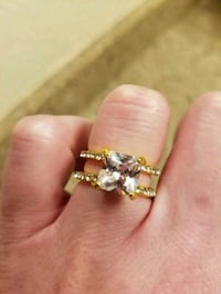 Cz gold plated ring Ontario, 91762