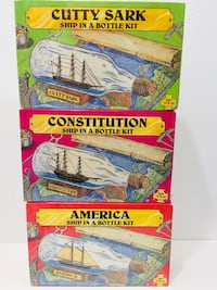 Vintage Ship in a Bottle Kits (3 Total All New) , N0A 1N6